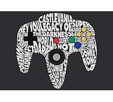 N64 Controller - Typography  Photographic Print