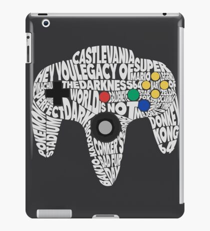 N64 Controller - Typography  iPad Case/Skin