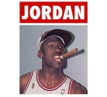 Michael Jordan (Championship Cigar) Photographic Print