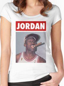 Michael Jordan (Championship Cigar) Women's Fitted Scoop T-Shirt