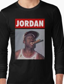 Michael Jordan (Championship Cigar) Long Sleeve T-Shirt