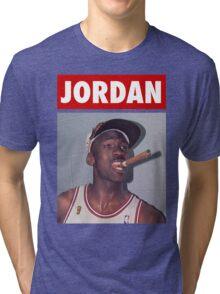 Michael Jordan (Championship Cigar) Tri-blend T-Shirt