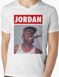 Michael Jordan (Championship Cigar) Mens V-Neck T-Shirt