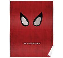 spiderman minimalist poster Poster