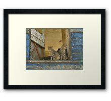 We've got a friend - but right now he can't be bothered Framed Print