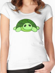 Kenny - the baby tortoise Women's Fitted Scoop T-Shirt