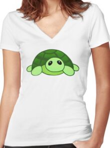 Kenny - the baby tortoise Women's Fitted V-Neck T-Shirt