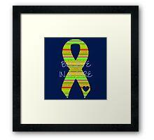 Believe Cure Framed Print