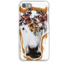 Hand drawn cow lady. iPhone Case/Skin
