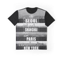 NEW YORK PARIS SHANGHAI SEOUL Graphic T-Shirt