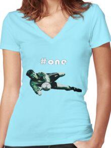 Packie Bonner #1 Women's Fitted V-Neck T-Shirt