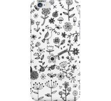 Fun Floral Doodles iPhone Case/Skin