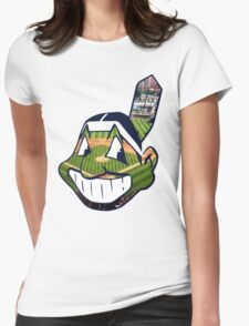 Chief Wahoo Field Womens Fitted T-Shirt