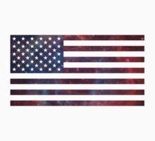 US Flag Nebula Baby Tee