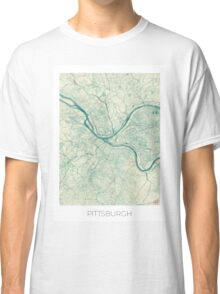 Pittsburgh Map Blue Vintage Classic T-Shirt