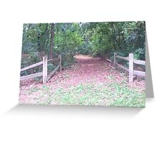 Rustic Path Greeting Card