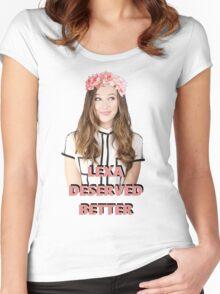 LEXA DESERVED BETTER Women's Fitted Scoop T-Shirt