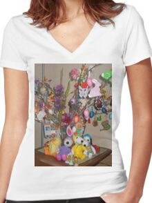Easter Dreams Women's Fitted V-Neck T-Shirt