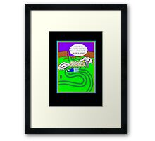 Gardening humour card Framed Print