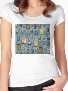 Dean's Slot Machines ~ Jackpot! Women's Fitted Scoop T-Shirt
