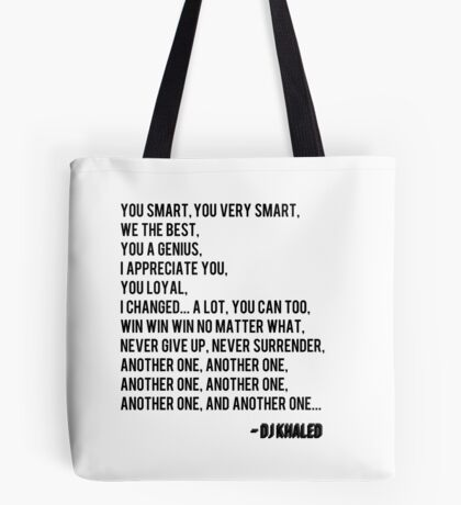 Another One - DJ Khaled Tote Bag