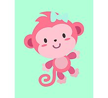 Cute Pink Monkey Design Photographic Print