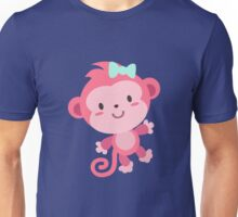 Cute Pink Monkey Design Unisex T-Shirt