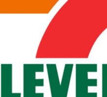 7-11 Logo, Simple. Sticker