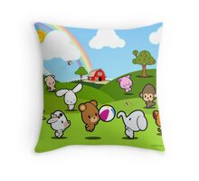 Farm Babies Play Throw Pillow