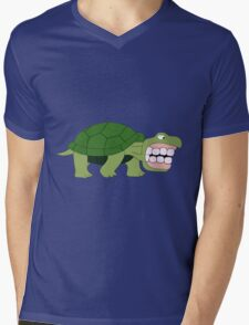 The Turtle with Grampa's Teeth Mens V-Neck T-Shirt