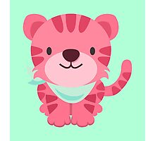 Cute Pink Tiger Design Photographic Print
