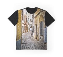Cobble Stoned Street with Bicycle Graphic T-Shirt