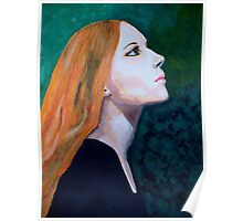 Girl Portrait Acrylic Painting Poster