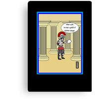 Roaming charges humour card Canvas Print