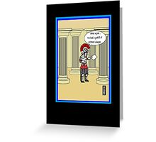 Roaming charges humour card Greeting Card