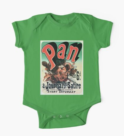 Pan, a journal of satire by Jules Chéret advert One Piece - Short Sleeve