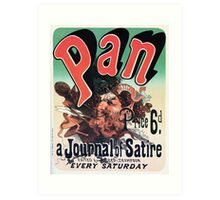 Pan, a journal of satire by Jules Chéret advert Art Print