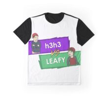 h3h3 vs. Leafy - Official Merchandise 2016 Collection Graphic T-Shirt