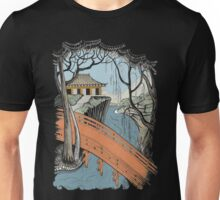 Landscape with bridge and willow Unisex T-Shirt