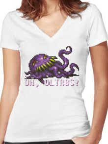 Oh, Ultros! Women's Fitted V-Neck T-Shirt
