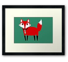 FOX WITH TIE Framed Print