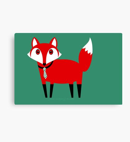 FOX WITH TIE Canvas Print