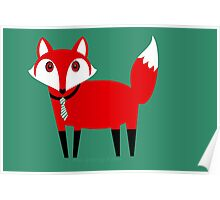 FOX WITH TIE Poster