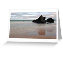 Black Rocks of Sango Bay Greeting Card