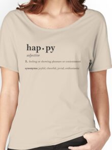 Happy Definition Print Women's Relaxed Fit T-Shirt