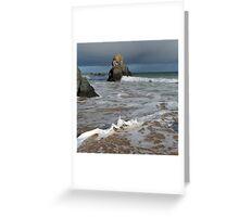 Sango Bay Waves and Sea Stack Greeting Card