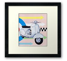 Scooter with Mod Target Framed Print