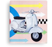 Scooter with Mod Target Canvas Print