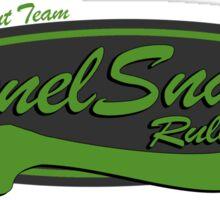 Baseball Team Tunnel Snakes Rule Sticker