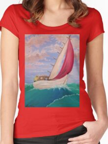 Red Sail Women's Fitted Scoop T-Shirt